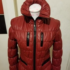 Red Puffer Jacket Sz Small
